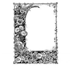 CFF258G Blooming Frame Rubber Stamp