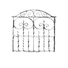 CFF400E Garden Gate Rubber Stamp