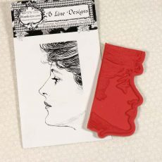 CTD009E Lisa Rubber Stamp