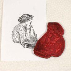CTD011E Janice Rubber Stamp