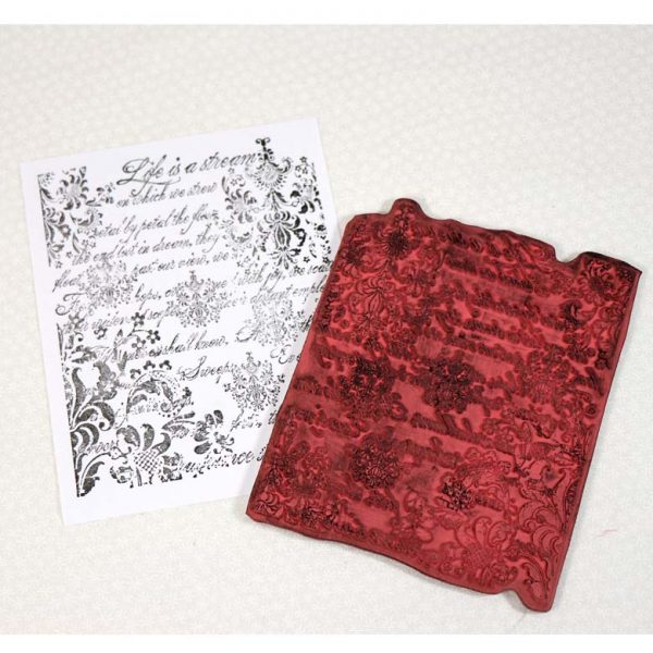 CDT015G Damask Collage Rubber Stamp