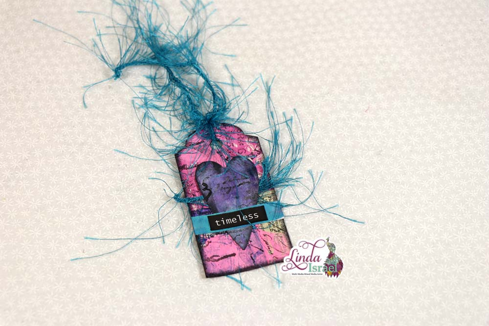 Scrapy Tag Using Gel Prints and Punches Tutorial