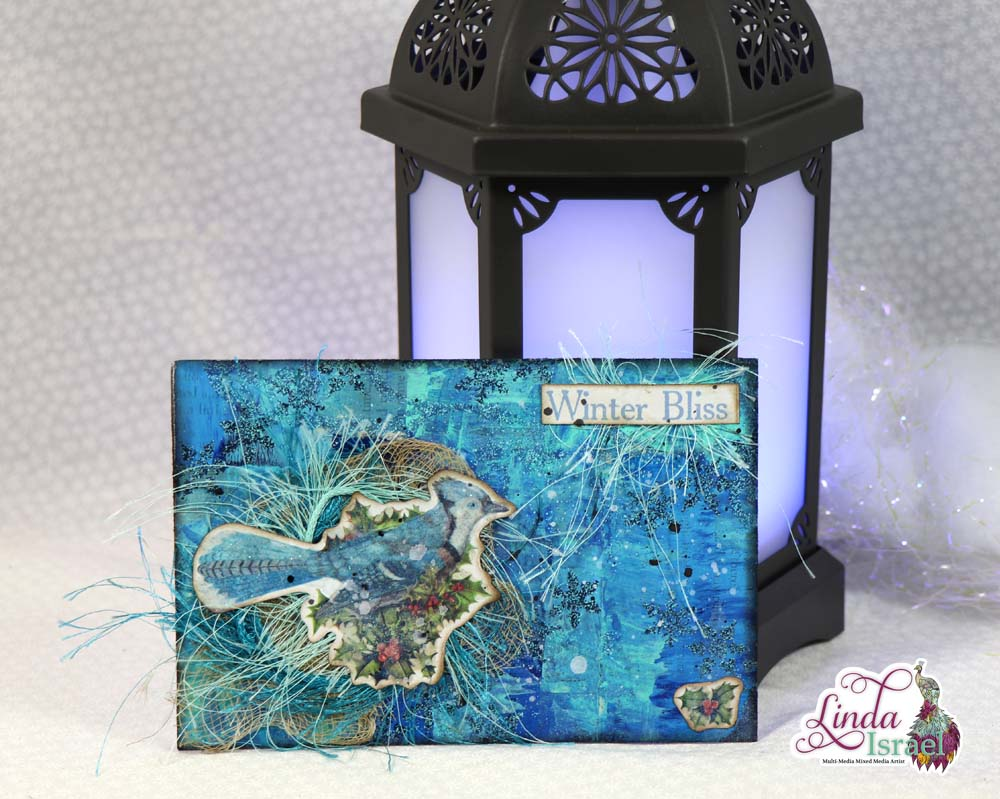 Winter Mixed Media Postcard Collaboration Tutorial