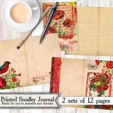Radiant Red Mini Journal Kit