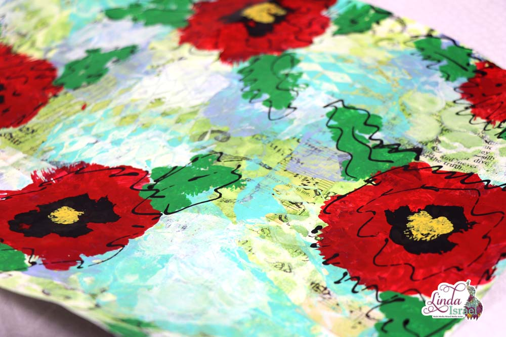 Mixed Media Poppy Masterboard Tutorial