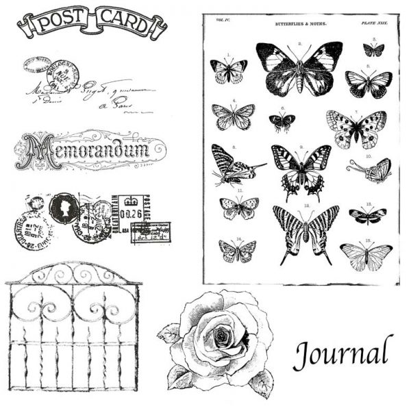 Postcard Garden Stamp Bundle