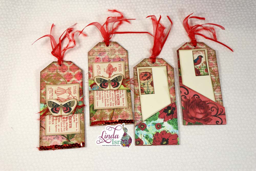 Radiant Red Junk Mail Tag Tutorial