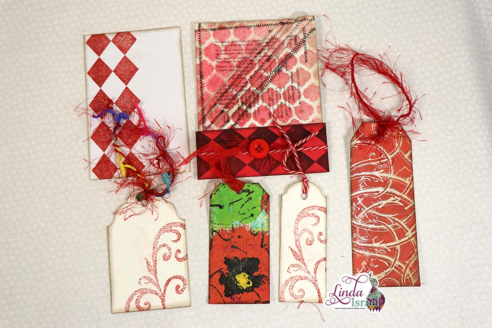 Red Junk Journal Pocket Tutorial