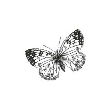 CFF121B Butterfly sm Rubber Stamp