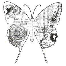 CFF128F Collaged Butterfly