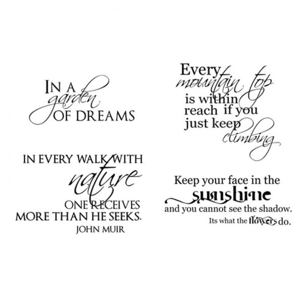 CFF729F Nature Walk QT Rubber Stamps