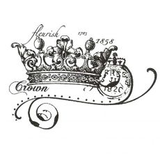 CHC213D Crown Collage Rubber Stamp