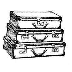 TP421D Luggage Stack Rubber Stamp