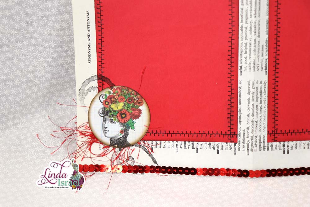 Dictionary Page Turned Junk Journal Page Tutorial
