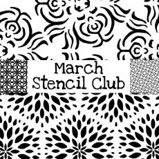 March 2019 Artistic Stencil Club