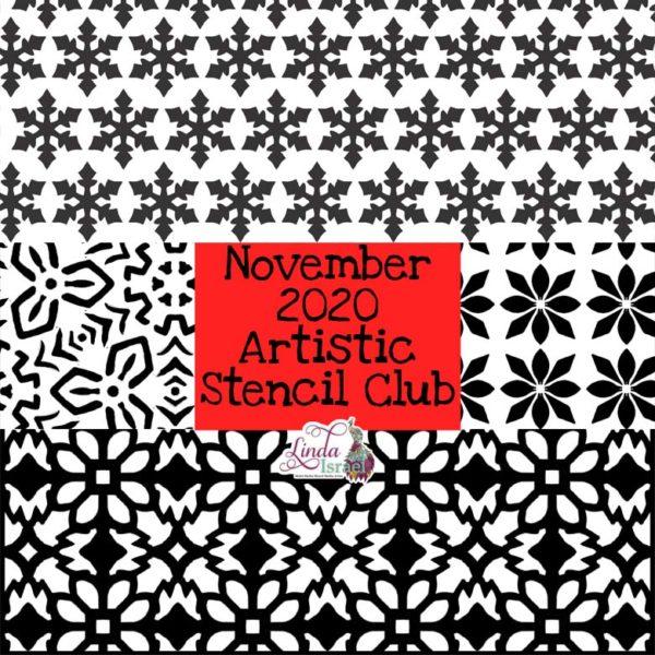 November 2020 Artistic Stencil Club