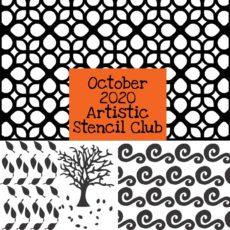 October 2020 Artistic Stencil Club
