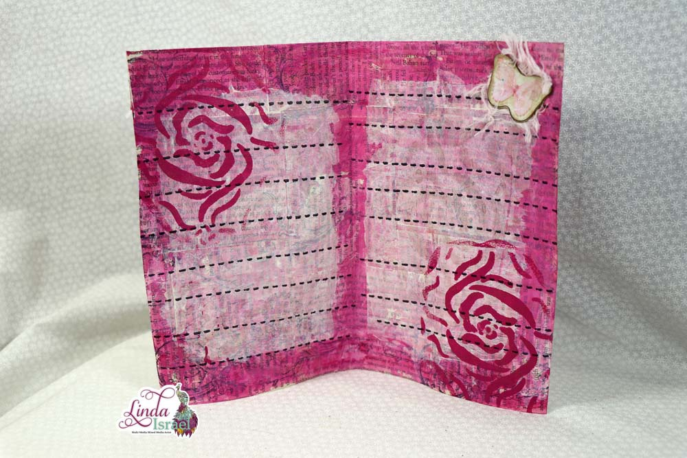 Painted Junk Mail to Journal Page Tutorial
