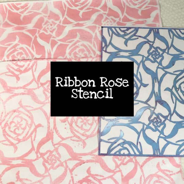 Ribbon Rose Stencil