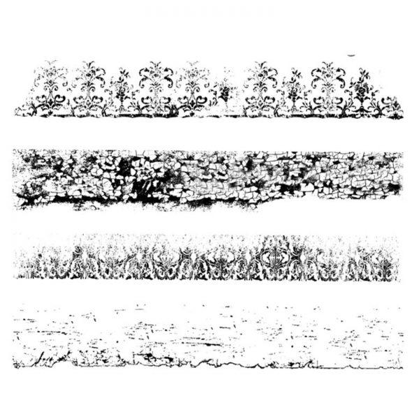 SE426G Textured Edges Quartet Rubber Stamps