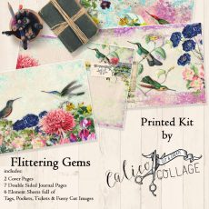 Flittering Gems Printed Journal Kit