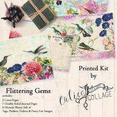 Flittering Gems Printed Journal Kit