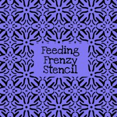 Feeding Frenzy Stencil