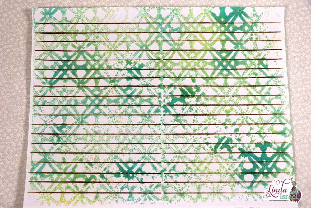 How to use Journal Lines Stencil by Linda Israel