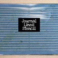 Journal Lines Stencil