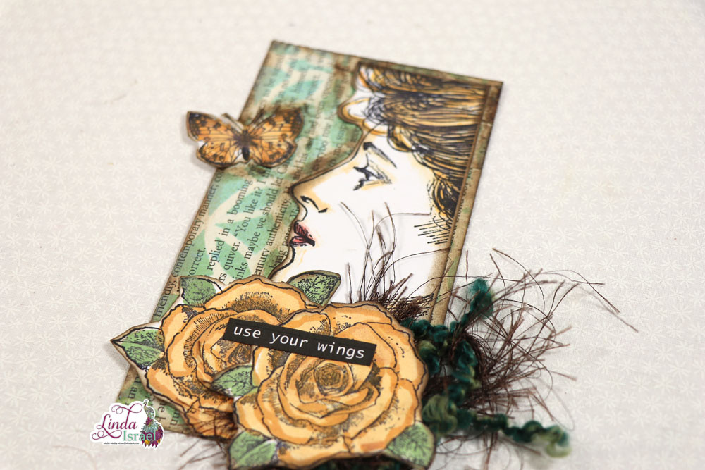 Stenciled and Stamped Journal Card Tutorial