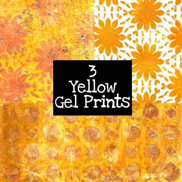 3 Yellow Gel Prints