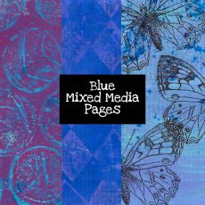 Blue Mixed Media Pages