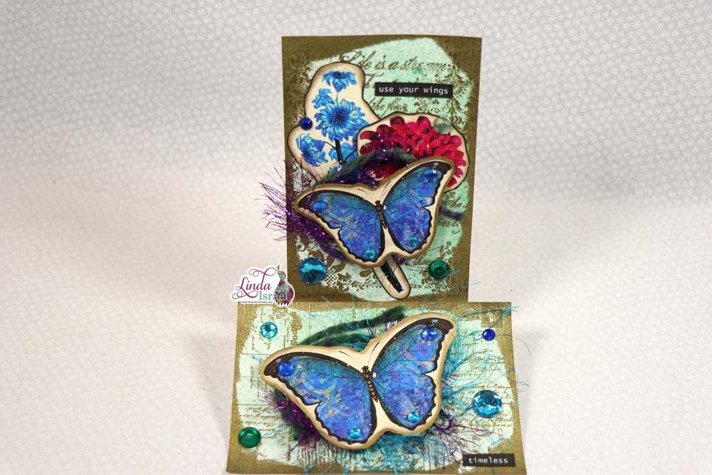 Butterfly Journal Card Tutorial