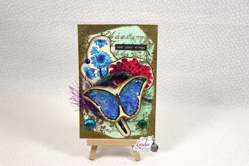 Butterfly Journal Card Tutorial