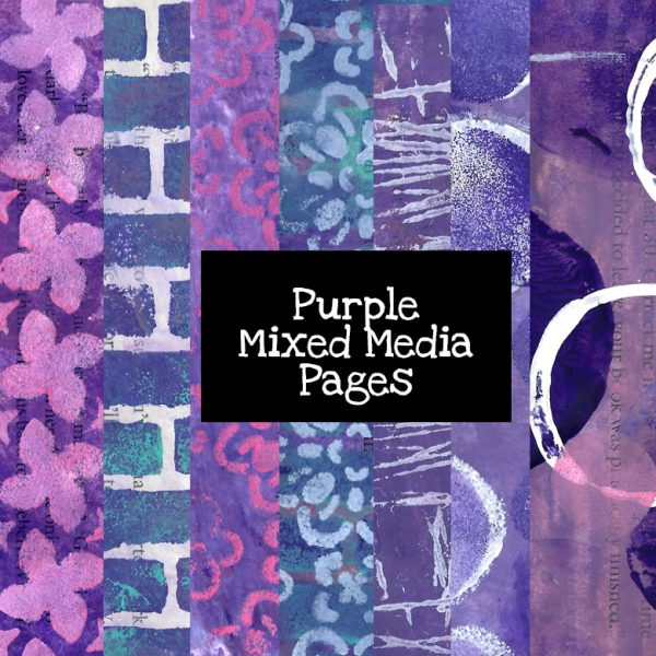 Purple Mixed Media Pages