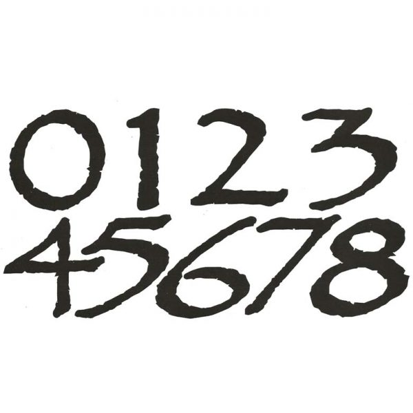 CAL701 Jumbo Numbers Rubber Stamps