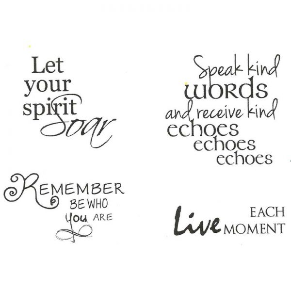 CFF130F Live Each Moment Cube Rubber Stamps