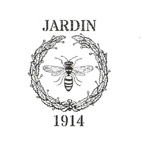 CFF134C Jardin Bee Seal Rubber Stamp