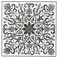 CFF211F Garden Square Rubber Stamp