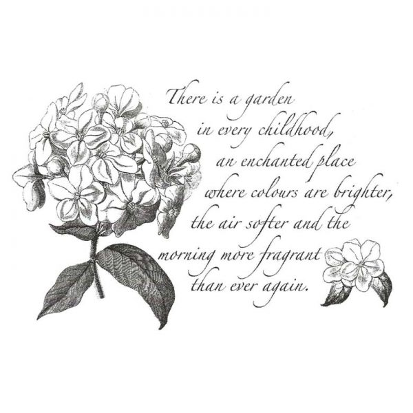 CFF419F Childhood Garden Rubber Stamp