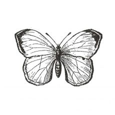 CFF526D White Glider Rubber Stamp