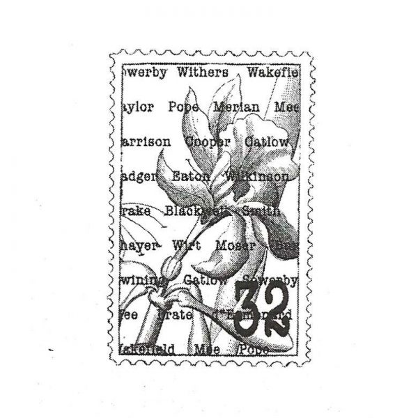 CFF603C Iris Postage Rubber Stamp