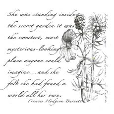 CFF611F The Secret Garden Rubber Stamp