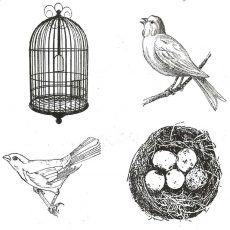 CFF714G Nest Cube Rubber Stamps