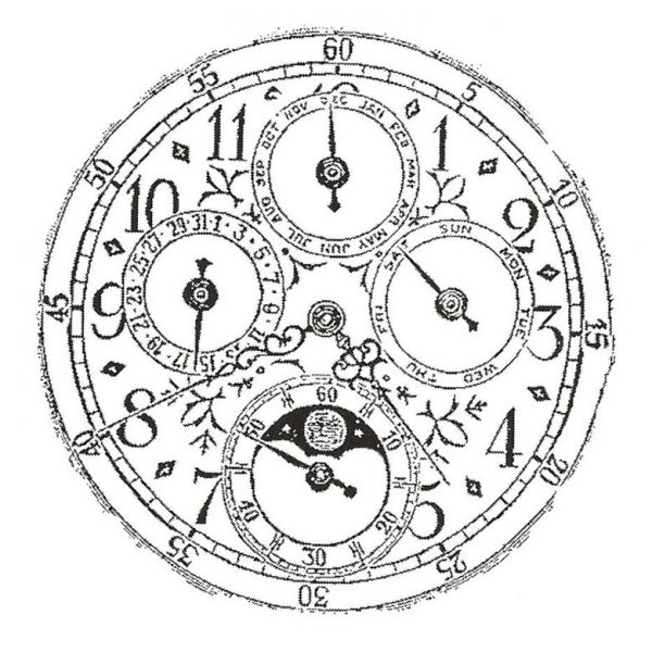 CHC513E Time Rubber Stamp