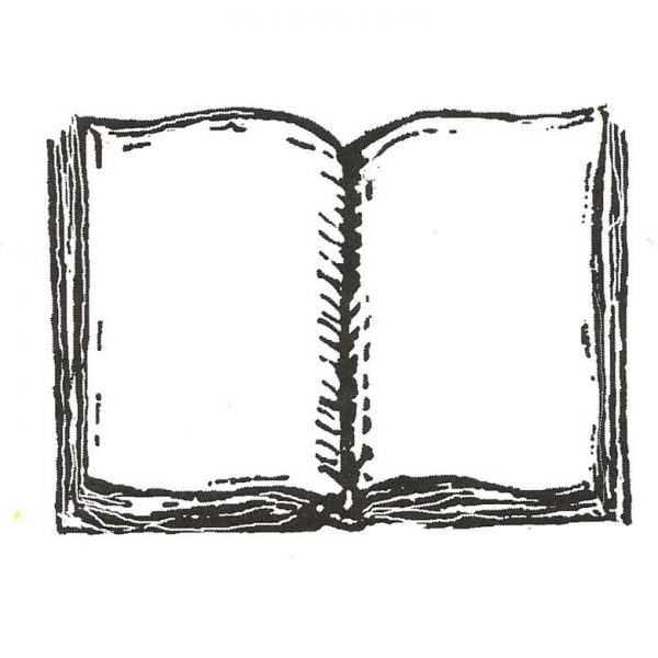 CRR114D Open Book Rubber Stamp