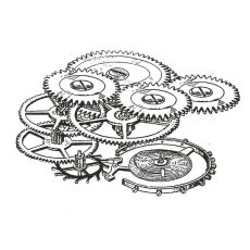 CSE433F Gears Rubber Stamp