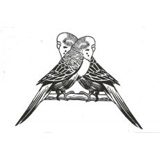 CTD028E Bird Talk Rubber Stamp