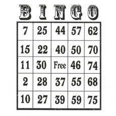CTD029E Bingo Card Rubber Stamp