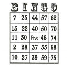CTD029E Bingo Card Rubber Stamp